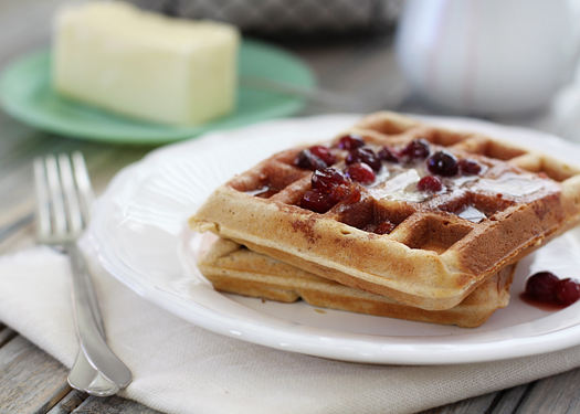 healthy waffle recipe with whole wheat and flax